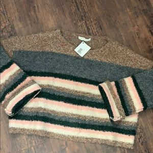Mustard seed crop sweater L